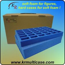 KR Multicase wargaming figure case + foam trays for vehicles & 36 troops (E-206)