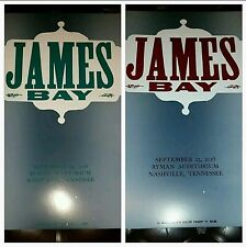 x2 JAMES BAY Ryman HATCH SHOW PRINT Two Nights Nashville Concert Poster 2016