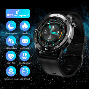 Men Waterproof Smart Watch Heart Rate Monitor Fitness Tracker for Android iPhone