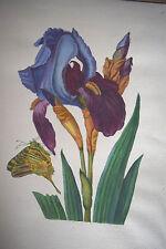 Russian Painting original   Handmade  acryle paper      flowers