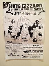 KING GIZZARD & THE LIZARD WIZARD 2014 Australian Tour Poster A2 Oddments **NEW**