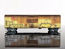 MTL Micro-Trains 02554069 50' Rib Side Box Car WEATHERED/Graffiti A&E #5108