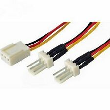 3 Pin Fan Power Splitter Cable Lead 1 Female to 2 x Male 15cm Motherboard