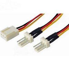 3 broches câble répartiteur d'alimentation du ventilateur plomb 1 femelle vers 2 x mâle 15 cm carte mère