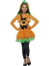 Girls Pumpkin Tutu Dress Costume Fancy Dress M 6-8 Halloween Horror