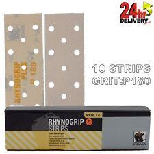Rhynogrip Plusline 70x198mm P180 Grit 10x HookNLoop Grip Abrasive Sanding Strips