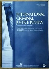 INTERNATIONAL CRIMINAL JUSTICE REVIEW  VOLUME 25 NO. 1 MARCH 2015 - PAPERBACK