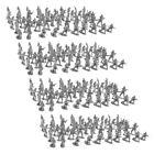 400 Pieces 2cm Plastic Toy Soldier Figurs  Men Accessories  Black