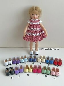 """Shoes for 7"""" Kish Riley Doll Slip-On You Choose from 12 Colors"""