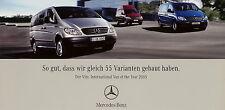 Prospekt 2005 Mercedes-Benz Vito Van of the Year 1/05 Autoprospekt brochure