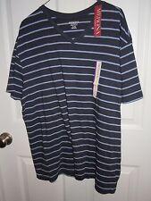 Merona Blue/Lavender Stripe V-Neck T-Shirt - XL - NWT