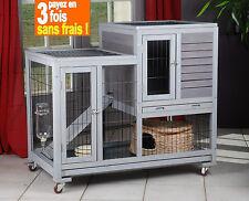 Cage pour lapin d'interieur clapier en bois neuf Réf AS4416