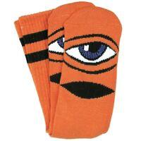 Toy Machine Socks Sect Eye Orange OSFM New Skateboard Sox