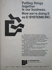 6-7/1972 PUB E-SYSTEMS LTV ELECTROSYSTEMS HARDWARE SWITCHES ANTENNA ORIGINAL AD