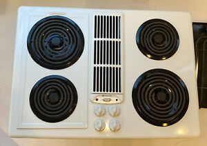 Jenn Air JED8130ADW Electric Downdraft Cooktop Stovetop Coil White Cartridge
