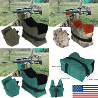 Shooting Front & Rear Bench Rest Bags Range Target Hunting Unfilled Sand Bag