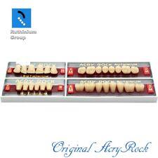 4pcs Set Acrylic Dental Lab Teeth Ruthinium Acryrock Teeth A35 Size 25 Mouth