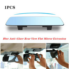 Universal Blue Anti-Glare Rear View Flat Mirror Extension For Car Interior Part