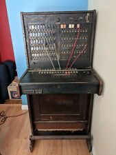 Vintage antique telephone switchboard operator cabinet