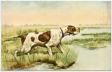 PORTRAIT CHIEN DE CHASSE. HUNTING DOG. ARTIST SIGNED. NORFINI