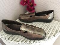 Ladies Hotter Calypso pewter metallic leather slip on casual shoes UK 5 EU 38