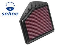 K&N 33-5020 Replacement Air Filter for 15-19 Genesis G80 G90 5.0L V8 & 3.3L V6