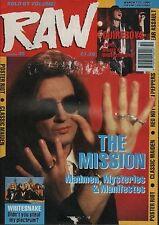 The Mission on RAW Cover 1990  Whitesnake  Robin Beck  Iron Maiden  King Diamond