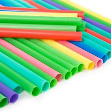 40 JUMBO LONG COLOUR STRAWS Assorted Milkshake Smoothie Drinks Cocktail Frappe