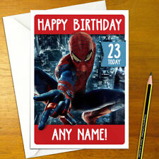 SPIDERMAN Personalised Birthday Card - A5 super hero spider man comic film movie