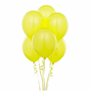 """25 X 12"""" Quality Plain Metallic Yellow Balloons Party Birthday Wedding Decor"""