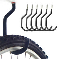 6PCS BICYCLE CYCLING BIKE GARAGE WALL MOUNT STORAGE HOOK HANGER STAND BRACKET UK