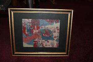Antique Vintage Asian Persian Middle Eastern Batik Tapestry-#14-Religious Men