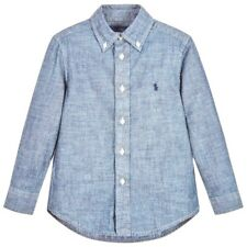 1a2aa7435 Ralph Lauren Boys Blue Chambray Blake Shirt 5y 100 Cotton (116cm) 5 Years