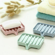 Stable Soap Dish Tray Sink Holder Drain Rack Draining Soap Case Non-SLIP Bath