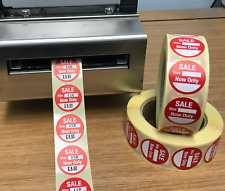 Thermal Printer - Circular - Sale was / now only - Price Labels / Stickers