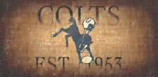 """Indianapolis Colts Retro Throwback Established 1953 Wood Sign - Wall NEW 12"""" x 6"""