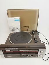Vintage Philips Music Centre F1155 - Record Player Radio Tape Deck with Manual