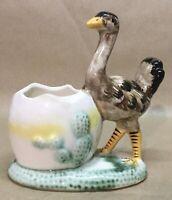 Vintage Ceramic Ostrich Planter, VGC+