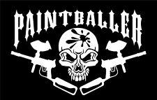 """Paintball Skull sticker Paintballer Skeleton Head Bones Vinyl Decal 18""""X20"""""""