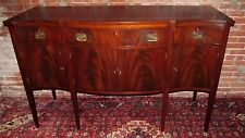 EXCEPTIONAL SOLID MAHOGANY HEPPLEWHITE SIDEBOARD BY CB SWIFT CAMBRIDGE MA