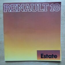 RENAULT 18 ESTATE RANGE 1979 UK Mkt Larger Format Sales Brochure