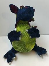 "Manhattan Toy Blue, Purple,Green Dragon Plush 11"" Medieval Renaissance Plush"