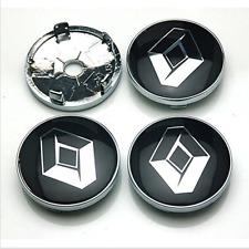 4pcs Silver 60mm Emblem Sticker Wheel Hub Caps Centre for Cover Renault Megane..