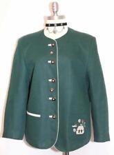 LINEN Women Summer JACKET German GREEN Dress Church Coat PETER HAHN / 12 M