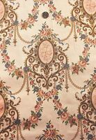 """Antique French Rose Cameo HF Textile Yardage c. 1880~1yd1""""L X 25""""W~Home Decor"""