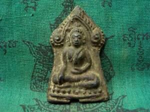 Buddha Antique Figure Fetish Ancient Thai Buddhism Sacred Amulet Wealth Luck