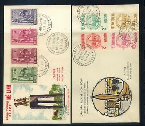 Vietnam  2 cachet  first day covers   211-214  and  203-206