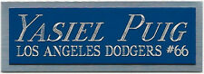 YASIEL PUIG  NAMEPLATE FOR AUTOGRAPHED Signed Baseball Display CUBE CASE