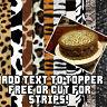 Edible Cake topper Cheetah leopard zebra tiger print sugar sheet paper pattern