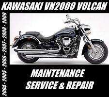 New listing Kawasaki Vn2000 Vulcan Service Manual Vn 2000 Repair Maintenance 2004 - 2009